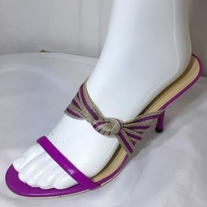 Gucci purple and tan heels